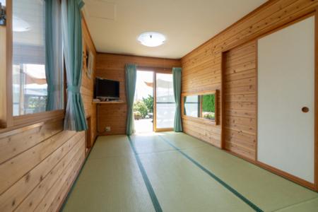 富士山ビューコテージ寝室(和室)