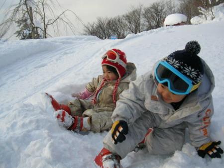 雪遊びもOK