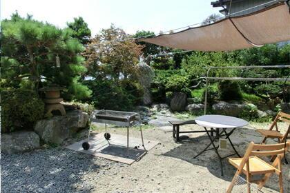 和風コテージばんぶー/庭でバーベキュー