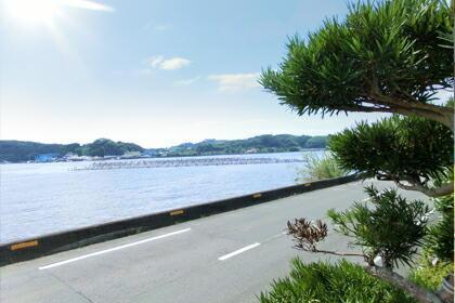 和風コテージばんぶー/道を挟んで浜名湖