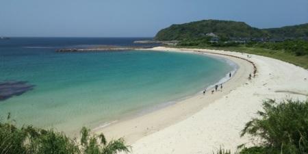 島戸の白い砂浜