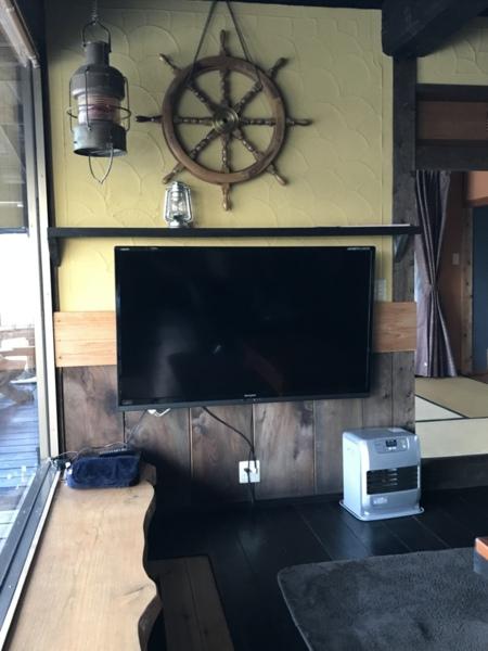 大型テレビも御用意しております