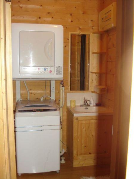 1階洗面室、洗濯・乾燥機