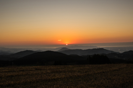風香山荘から見る夕日