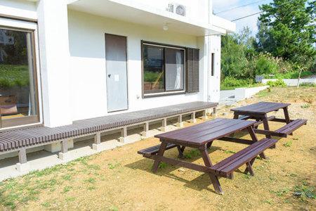 ペンション庭(バーベキュースペース)