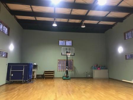 新しくバスケットボールのゴールも設置