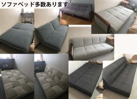 2F各部屋のソファーベッド