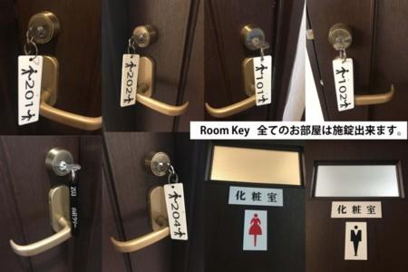 全ての部屋に鍵がかかります