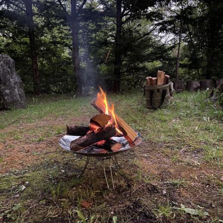 キャンプファイヤー&BBQ同時に楽しめる