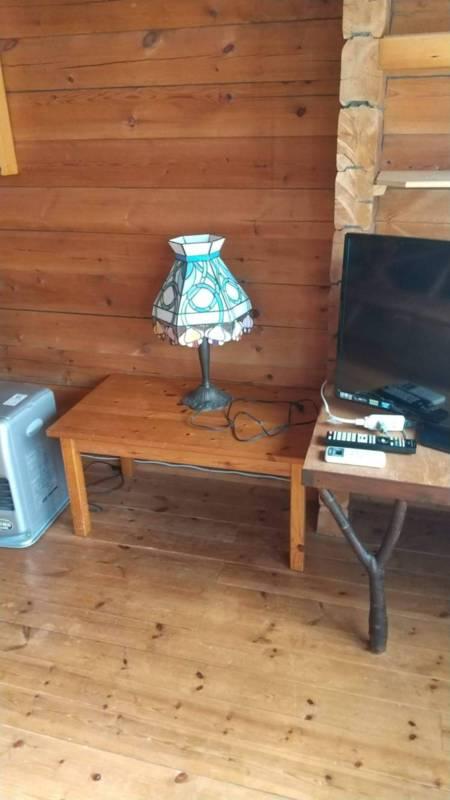 ランプのあるリビング