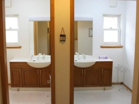 洗面室は3ヶ所あります