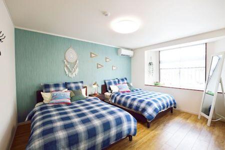 海をイメージした寝室1