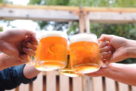 生ビールで乾杯!