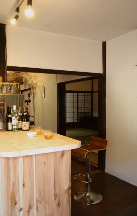 カフェ風のカウンターキッチン