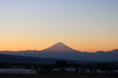朝焼けの富士山!