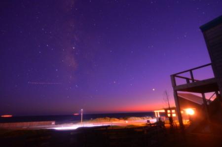 18.10.7 K様撮影の夕陽と天の川✌