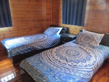 2階のツインベッド