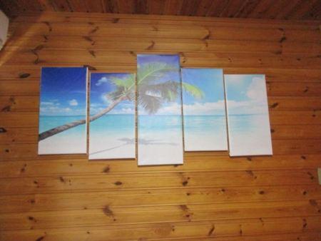 1階寝室の海岸アート