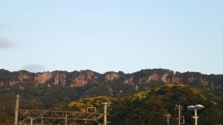 施設から見える鋸山