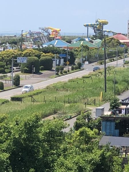 屋上〜蓮沼ウォーターガーデンプールの眺め