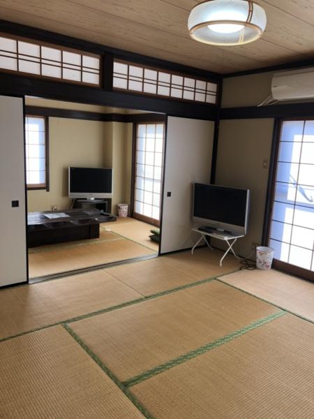 和室の続き間  全室エアコン・テレビ完備