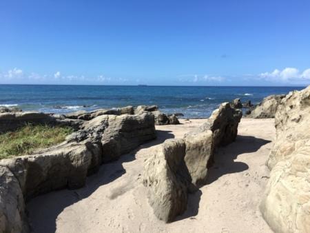 ユニークなかたちの岩
