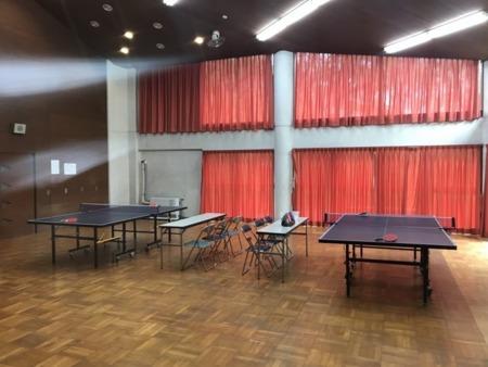 芸大那須寮 大広間 卓球台2台設置済