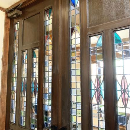 ダイニングドアのステンドグラス