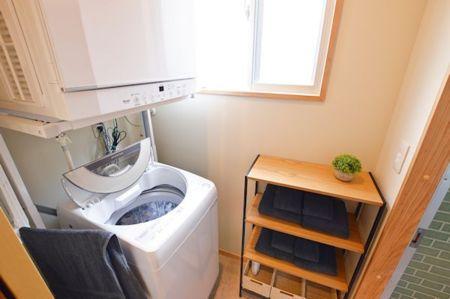 洗濯機&乾燥機完備