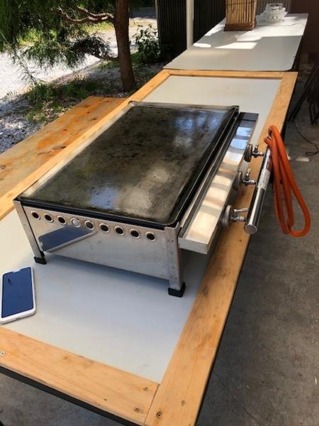 BBQのガス鉄板