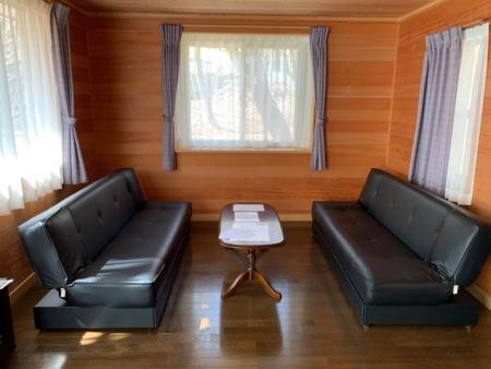 リビングにはソファーベッド完備
