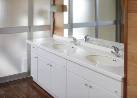 洗面台も清潔です。