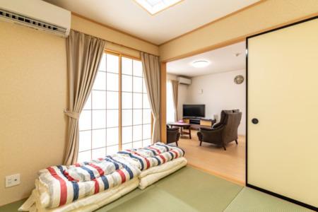 1階和室、3名様就寝可能です
