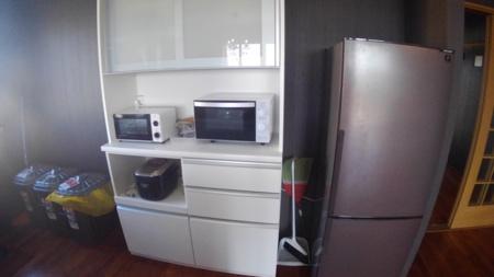 電子レンジ、オーブントースター、冷蔵庫、