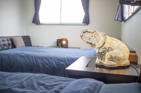 寝室3:お部屋から海の望める寝室です