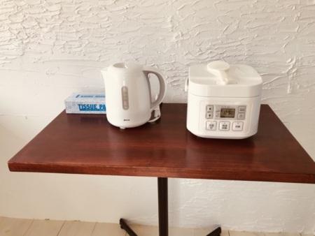 2階炊飯器、電気ポット