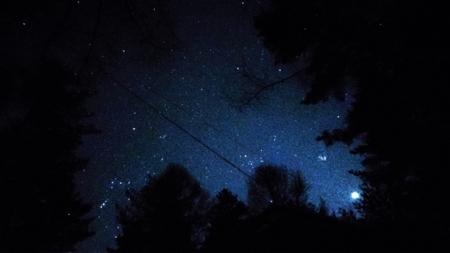 星がきれいに見えます