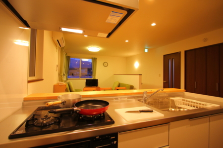 調理器完備キッチン