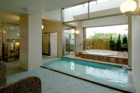 旅館の浴場を共有可能