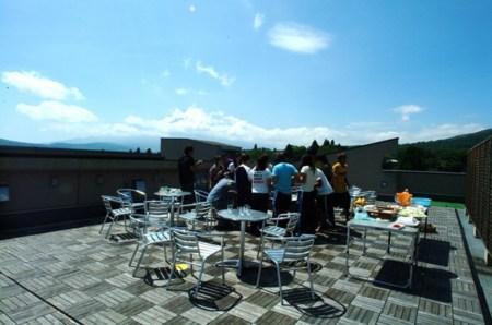 屋上BBQ  富士山 絶景
