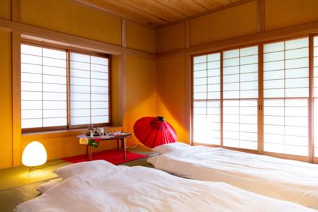 寝室2 和室8畳。お布団は最大3組