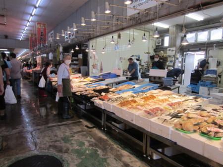 海鮮市場内