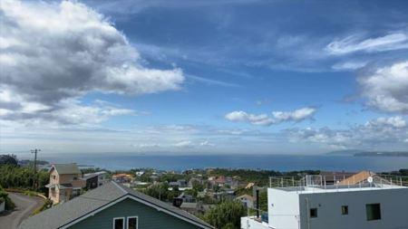 波左間リゾートからの眺望は雲が近い