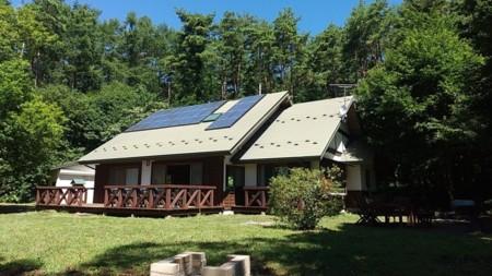 ウッドデッキから眺める甲斐駒ヶ岳