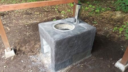 夏の庭と甲斐駒ヶ岳