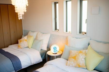 リゾートスタイルな寝室