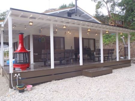 屋根付BBQスペース
