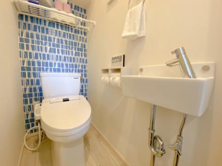 清潔感のある綺麗なトイレが自慢です
