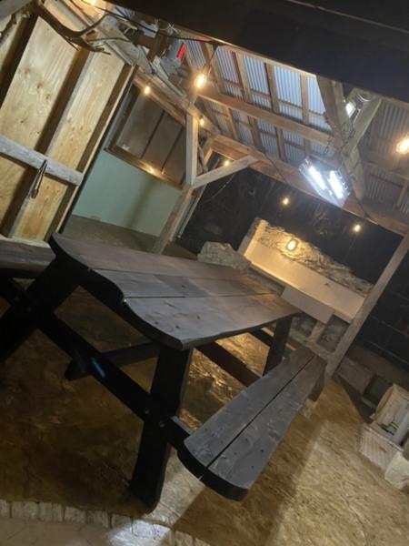 屋根付きBBQスペース