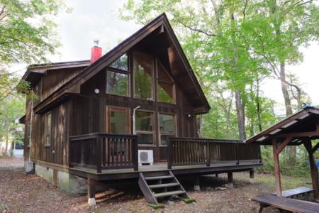 木に包まれて入浴